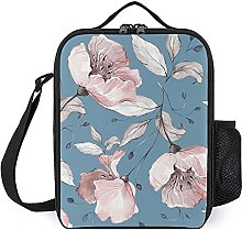 Insulated Lunch Bag Peach Blossom Lunch Box