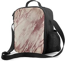 Insulated Lunch Bag Pink Rose Blush Powder Creamy
