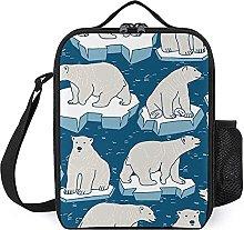Insulated Lunch Bag Polar Bear Lunch Box Portable