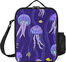 Insulated Lunch Bag Purple Jellyfish Lunch Box