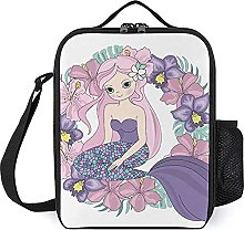 Insulated Lunch Bag Purple Mermaid Lunch Box