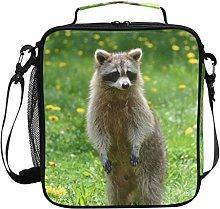 Insulated Lunch Bag Racoon Animal Wild Wildlife