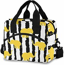 Insulated Lunch Bag Reusable Cooler - Cute Yellow