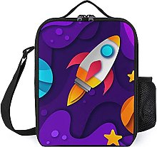 Insulated Lunch Bag Rocket Space Lunch Box