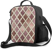 Insulated Lunch Bag Rosegold Pink and Copper