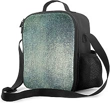 Insulated Lunch Bag Silver Teal Greenly Gray Cali