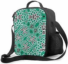 Insulated Lunch Bag Succulent Garden Cooler Bag