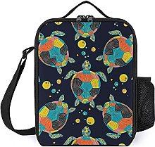 Insulated Lunch Bag Turtle Color Lunch Box