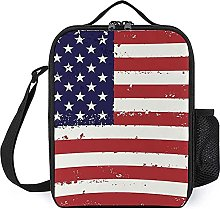 Insulated Lunch Bag USA Lunch Box Portable Tote