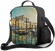 Insulated Lunch Bag Venice Italy Vintage Cooler