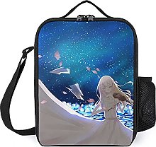 Insulated Lunch Bag Violin Girl Lunch Box Portable