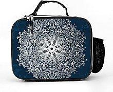Insulated Lunch Box Dark Blue Butterfly Mandala