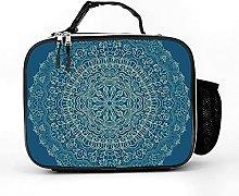 Insulated Lunch Box Dark Blue Mandala Lunch Bag