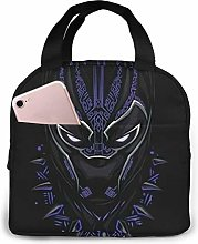 Insulated Lunch Tote Bag for Men Women, Cool Black