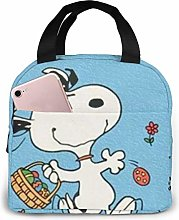 Insulated Lunch Tote Bag for Men Women, Happy