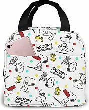 Insulated Lunch Tote Bag for Men Women, Snoopy and