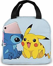 Insulated Lunch Tote Bag for Men Women, Stitch and
