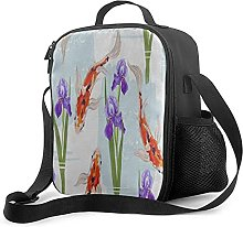 Insulated Meal Prep Lunch Bag Tropical Japanese