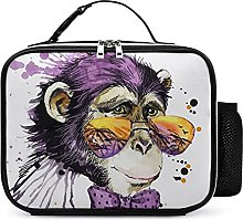 Insulated School Lunch Bag Cool Monkey Cooler Tote