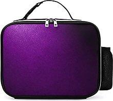 Insulated School Lunch Bag Purple Gradient Cooler
