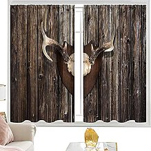 insulating curtains Antler,Rustic Home Cottage