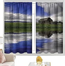 insulating curtains Country,Rustic Cottage Cloudy
