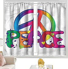 insulating curtains Groovy,Flower Child Peace