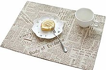 Insulation Table Mats, Beige Western Food