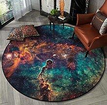 Insun Universe Galaxy Starry Round Area Rug Modern