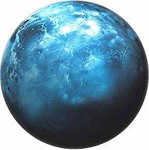 Insun Universe Planet Non Slip Round Area Rug