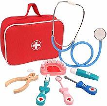 Intee Pretend Doctors Play Set, 8Pcs Role Play Kit