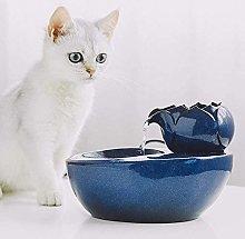 Intelligent Lotus Pet Water Dispenser Ceramic Cat