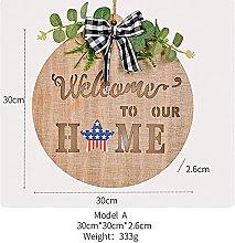 Interchangeable Seasonal Welcome Door Sign, Wooden