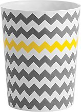 InterDesign Chevron Bathroom Bin/Trash Can, Made
