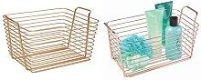 InterDesign Classico Copper Storage Basket Large