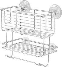 InterDesign Classico Suction 2-Tier Combo Basket,