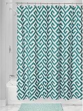 InterDesign Geometric Poly Shower Curtain,