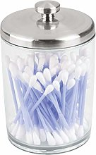 InterDesign Gina Canister, Clear/Brushed Nickel
