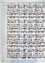 InterDesign Nori Fabric Shower Curtain, 183 x 183