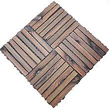Interlocking Flooring Garden Decking 4PCS Wooden