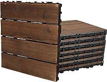Interlocking Flooring Garden Decking 8pcs Wood