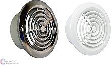 Internal Ventilation Grille Round CHROME or WHITE