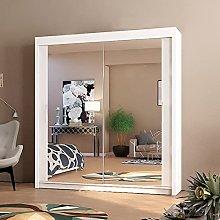 Interwood Wardrobe, Double Mirror Sliding Door