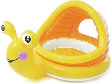 Intex 5ft Lazy Snail Baby Paddling Pool With Shade