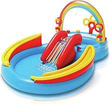 Intex 9.5ft Rainbow Ring Play Kids Paddling Pool -