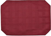 Intimates Burgundy/Wine Table Placemat Jacquard