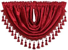 Intimates Plain Chenille Curtain Swag with Beaded