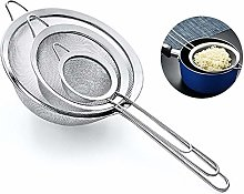 INTVN 3 Pieces Food Strainer Set, 304 Stainless
