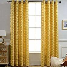 INVACHI 2 Panels Semi Blackout Eyelet Curtains