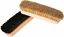 Invero 2 Piece Traditional Boot Shoe Brush Polish